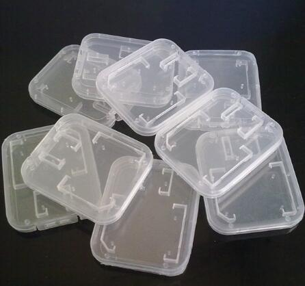 Memory Card Clear plastic packing boxes retail package box for SD T-Flash TF Card packing Box Transparent Storage Case free shipping