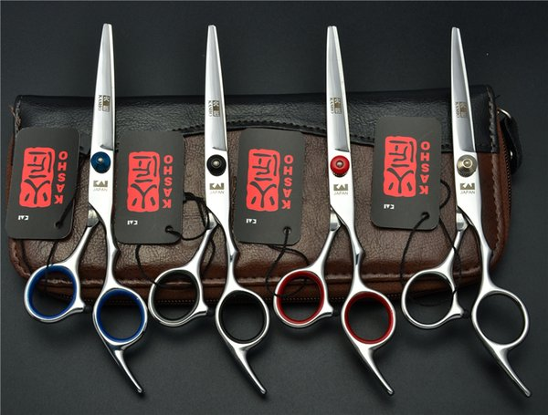 Wholesale- 7.0 inch 19.5cm Brand Japan Kasho Professional Dogs Cats Pets Hair Shears Hairdressing Scissors Straight Cutting Shears H4001