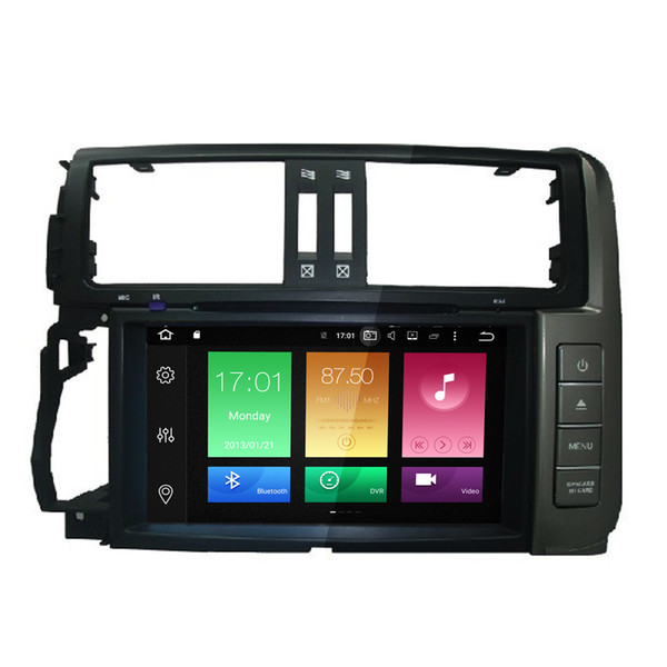 "8"" Octa-core Android 6.0 Car DVD Double Din For Toyota Prado 2012-2014 GPS Navi Radio RDS Mirror Screen 2G RAM 32G ROM OBD DVR WIFI 4G 3G"