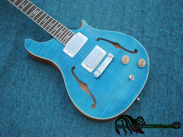 New Arrival Blue Flame Top Electric Guitar Top Musical instruments Best Selling