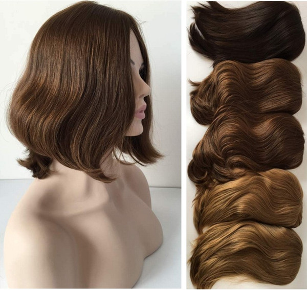 Light Brown Color 8 Mongolian Virgin Hair Loose Wave 4x4 Silk Base Jewish Wigs Kosher Wigs The Best Sheitels Free Shipping