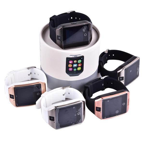 Q18 intelligente Uhr Bluetooth Smart Uhren für Android Phone mit Kamera Q18 Unterstützung TF Karte NFC Verbindung mit Kleinpaket OTH289