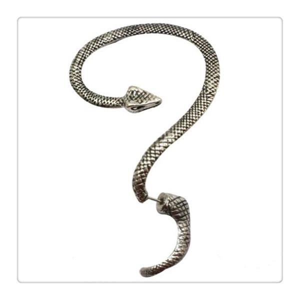 2016 HOt Temptation Serpent Boucle D'oreille Gauche Oreille Manchette Argent Sexy Ficelle Vent Temptation Long Serpent Stud Boucle D'oreille Le Prix Le Plus Bas Livraison Gratuite