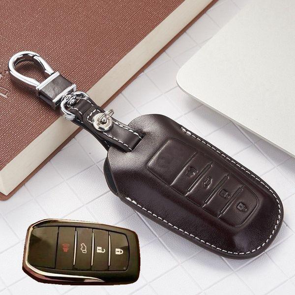 Leder Schlüsselanhänger Abdeckung Fall Für 2016 Toyota Kijang Innova Fortuner SW4 2017 Zubehör Camry Corolla Cruiser Prado Schlüsselanhänger Kette Tasche