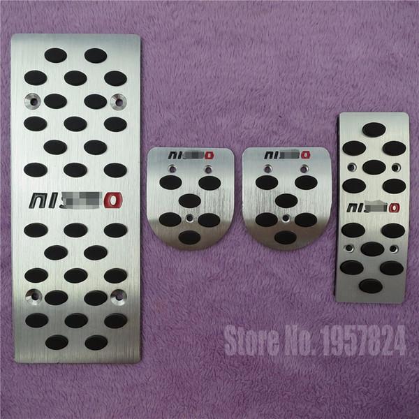 Accessoires Pour Nissan Tiida Sylphy Mars Livina Ensoleillé Qashqai Teana NISMO AT / MT Frein Accélérateur Pied Reste Pédale Pad Autocollant