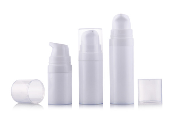 5ml 10ml 15ml White mini Airless Pump Lotion Bottle,sample and test bottle ,Airless Container,Cosmetic Packaging F2017493