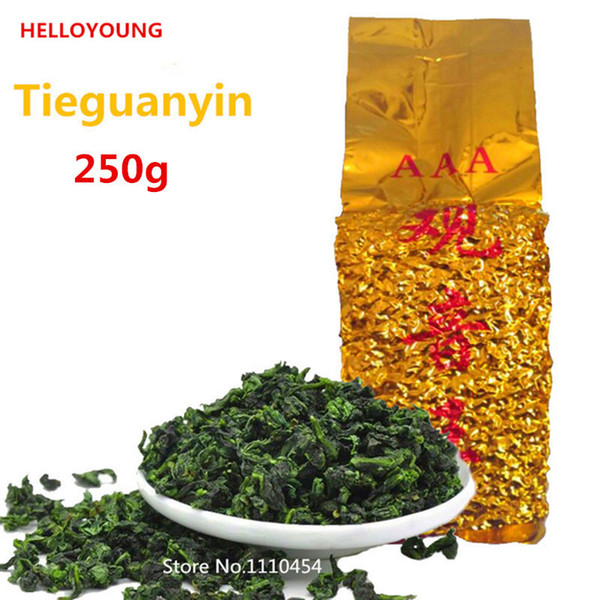 top popular Vacuum packages Premium Fragrant Type Traditional Chinese Oolong Tea TiKuanYin Green Tea Anxi TieGuanYin Tea 250g 2019