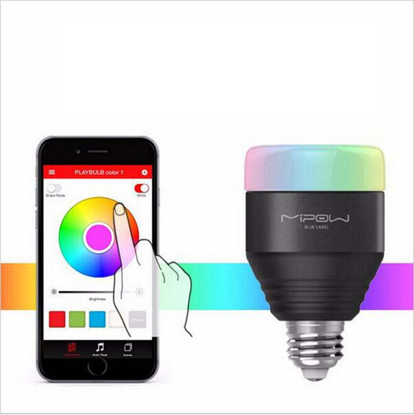 Wholesale- Playbulb 5W Bluetooth App Group Controlled Dimmable Color Smart Led Bulbs Wireless Control Mi Bulb Lampada Lamp Lamps Light