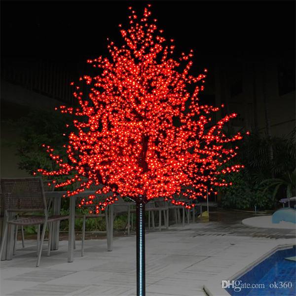 LED artificiale Cherry Blossom albero luce luce della stringa di Natale 1152pcs lampadine LED 2m / 6,5 piedi di altezza 110 / 220VAC antipioggia Outdoor Garden Decor