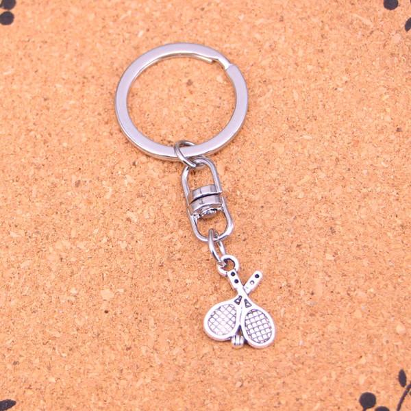 Nueva moda de tenis llaveros de plata antiguo plateado Keyholder moda sólido colgante llavero de regalo
