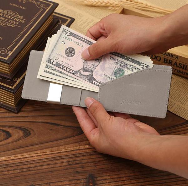 100% Garantía de calidad Marca de oro para hombre Tarjeta de crédito mágica ID titular Titular de clip de dinero Envío Gratis