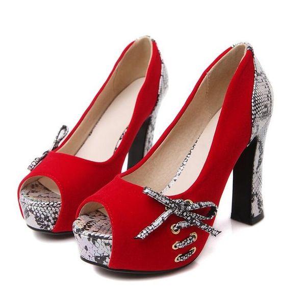 Big Size US4-9 Fashion summer black blue red platform pumps high heels shoes woman fashion wedding party shoe SX1