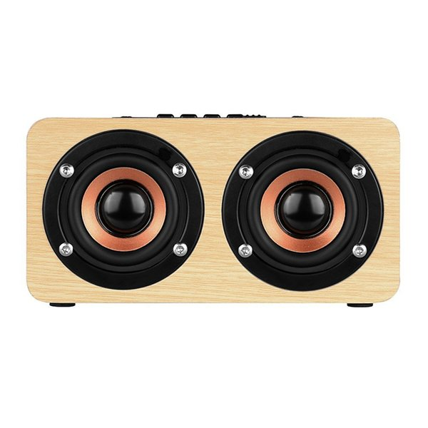 W5 retro wooden Bluetooth Speaker classic Home wood HIFI Wireless 3D Loudspeaker Surround hands-free Mic TF card MP3 Player with Package