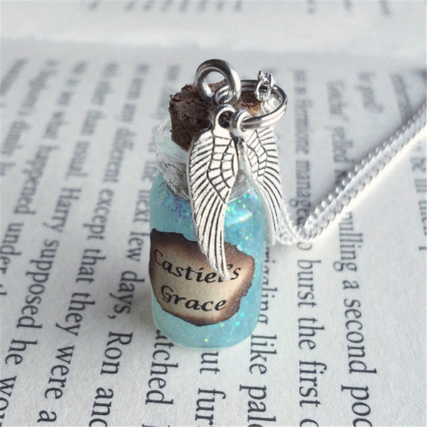 12pcs/lot Castiel's Grace Bottle Necklace Decoration Keyring inspired Supernatural