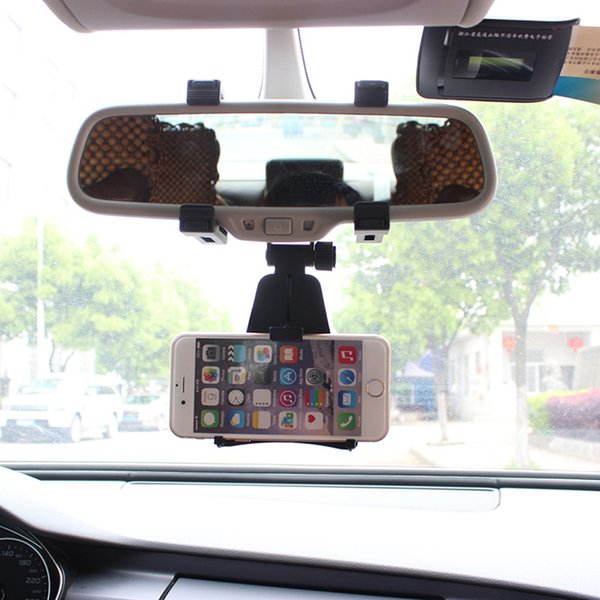 Wholesale- Universal Auto Car Rearview Mirror Mount Stand Holder Cradle For Cell Phone GPS