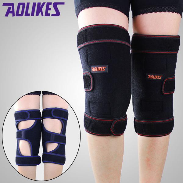Gros-épais garder au chaud hiver genou protecteur soins de santé étendu genou brace équitation soutien du genou pour hommes et femmes 1PCS