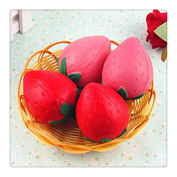 Strawberry Squishy Charms Kawaii Squishies Slow Rising Pendant Phone Straps Kid Toys Strawberry Squishies Ice Cream Phone KeyChains Charms