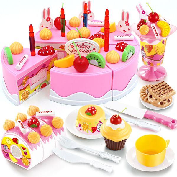 Best Quality 38 Diy Pretend Play Fruit Cutting Birthday Cake Kitchen