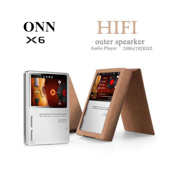 All'ingrosso-ONN X6 Lossless Portable Digital Hifi Flac Audio Sport Mp 3 Music Mp3 Player con schermo Speaker Radio FM 8GB LCD Voice Recorder