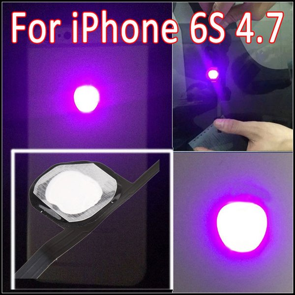 For iPhone 6S Luminescent Glowing Logo LED Light Up Transparent Logo Mod Panel Kit Back Cover For iphone6S 4.7inch Free Shipping