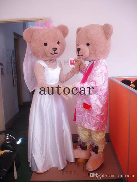 L'orsacchiotto di nozze Cartoon Character Costume mascotte Prodotti personalizzati su misura spedizione gratuita
