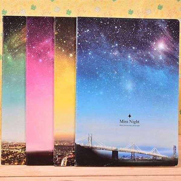 Wholesale- Fantastic Galaxy Star Sky A5 Notebook Diary Book Exercise Composition Notepad Escolar Papelaria Gift Stationery