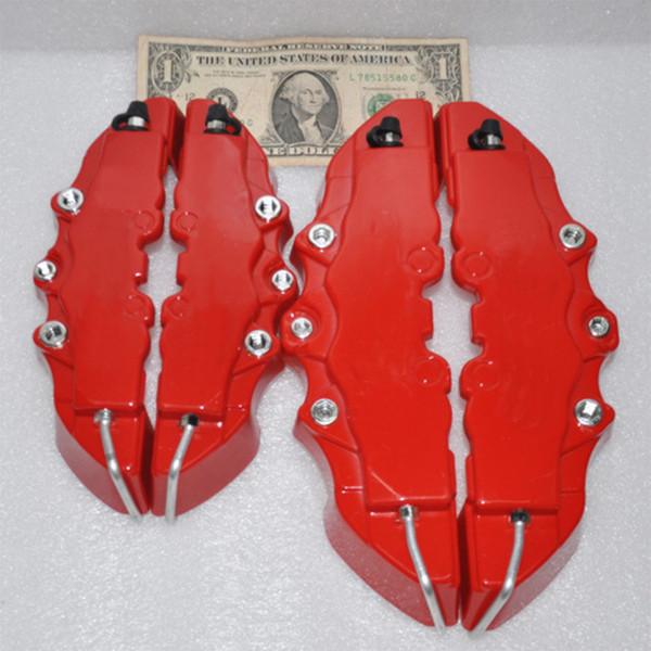 top popular 4Pcs RED 3D Rear Caliper covers Embossed Brem Fit pliers covers Car Universal Disc Brake Caliper Covers Front & Rear 2021