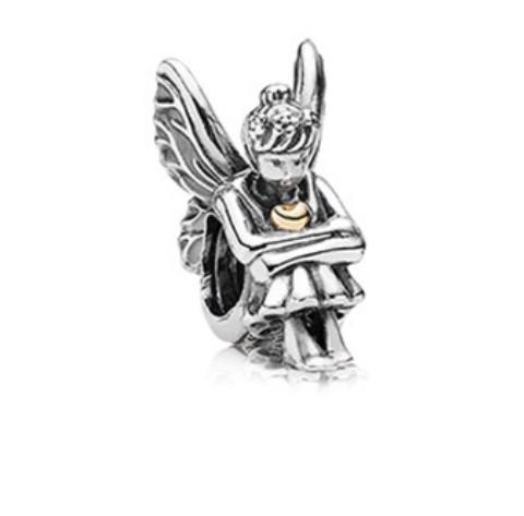 Fit Pandora Charm Bracelet European Silver Bead Charms Angel Beads Forest Fairy DIY Snake Chain Cartoon For Women Bangle & Necklace Jewelry