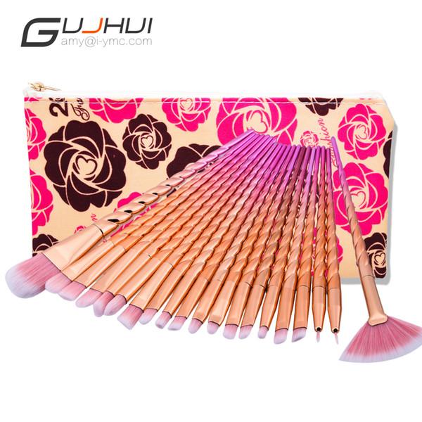 20pcs Eye Makeup Brushes Set Makeup Tool Thread Rose Gold Brush GUJHU Cosmetic Brushes Set Tool Kit 20 pcs