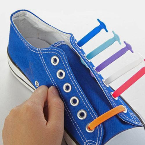 Fashion Unisex Women Men Athletic Running No Tie Shoelaces Elastic Silicone Shoe Lace All Sneakers Fit Strap