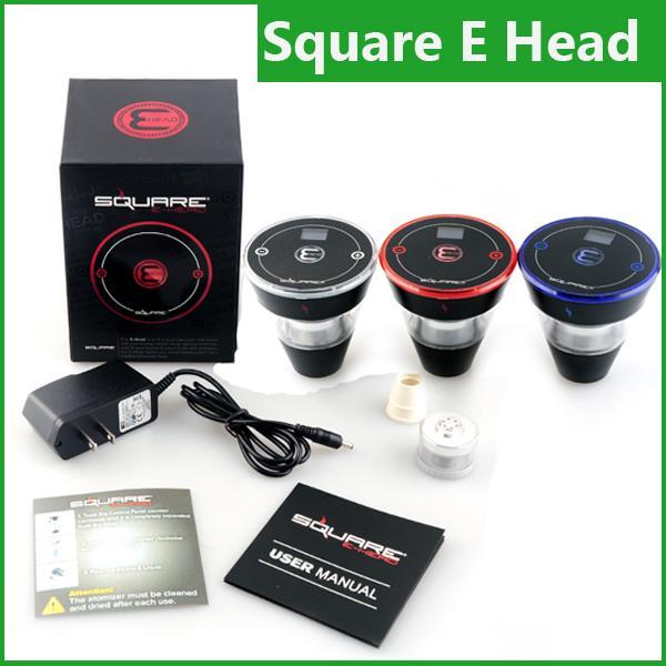Square E head hose shisha 2400mAh cartridge refillable e hookah disposable Hookah Rechargeable kit