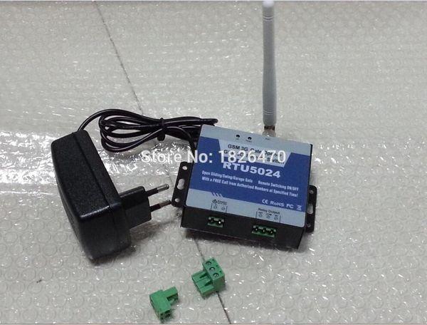 Atacado-GSM Porta Portão Abridor Remoto On / Off Switch por Autorizado Telefone Chamada gratuita RTU5024 AC / DC Power
