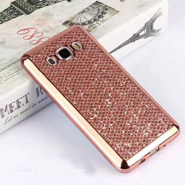 2017 New cell phone bling case cover glittering Soft PC case design for Samsung galaxy S4 S4mini S5 S5mimi S6 S6edge+ S7 S7edge S8 S8plus