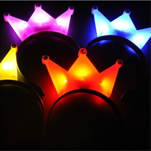 LED Flash Light Emitting Hairpin Bow Fasce per capelli Horn Flash LED Clip di capelli Mickey Bands Crown Hair Bands Flash Hairpin Headband Halloween LED