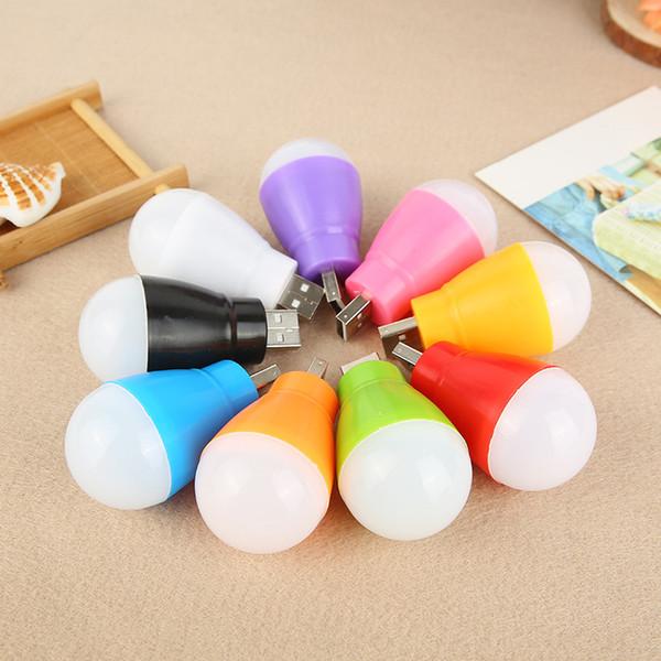 Creative new portable USB light bulb, LED energy-saving outdoor, night wireless computer, mobile power emergency light