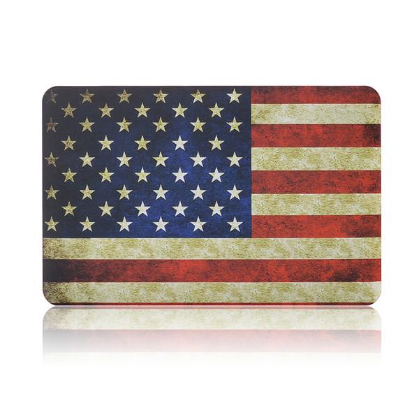 "Plastic Hard Shell Cover Case Flag Print For Apple Macbook Air Pro Retina 11.6"" 13.3"" 15.4"" A1370 A1465 A1369 A1466 A1278 1286 A1398 A1425"