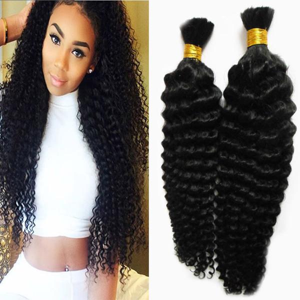 No Weft Human Hair Bulk For Braiding Natural Color bulk human hair for braiding 200g curly braiding human hair no weft 2pcs