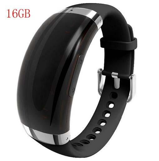 top popular 2019 New 16GB Wristband voice recorder VOS sound control adjustable bracelet voice recorder MP3 support 24 languages WR-18A 2020
