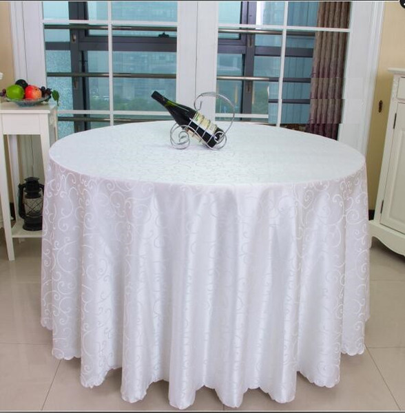 best selling Table cloth Table Cover round for Banquet Wedding Party Decoration Tables Satin Fabric Table Clothing Wedding Tablecloth Home Textile WT021