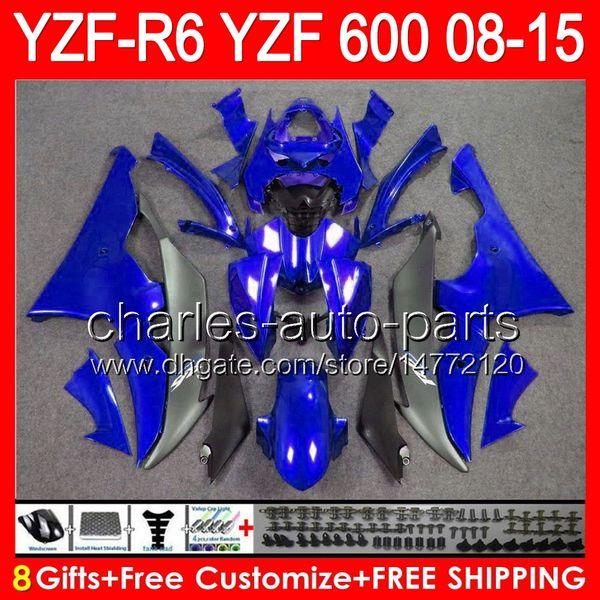 Blue Windscreen Bolts Screws Kit 4pcs For Yamaha YZF R6 08 09 10 11 12 13