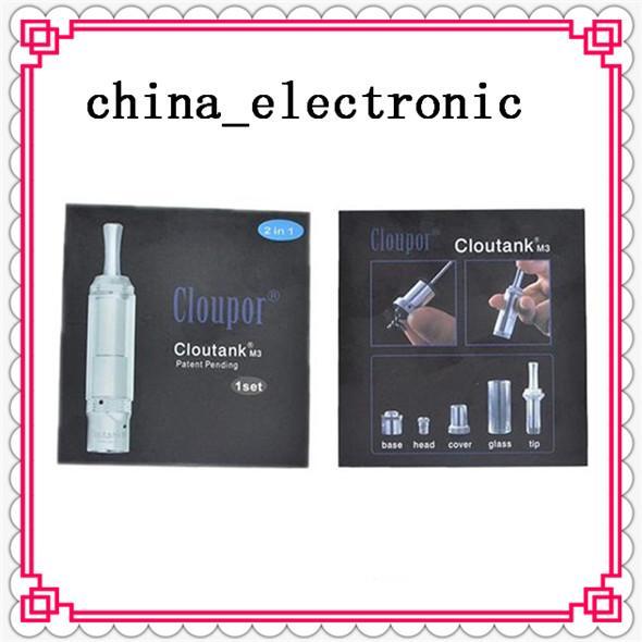 Hot Cloupor atomizer Cloutank M3 atomizer cartomizer clear vaporizer for Dry Herb pen herbal vaporizer vapor electronic cigarette