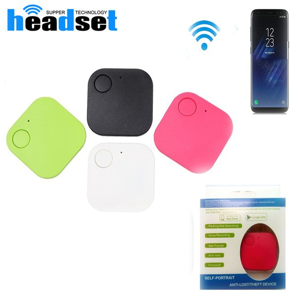 Mini Triangle Wireless Smart Tag Bluetooth Anti Lost Alarm Tracker 5 Colors Available GPS Locator Alarm Key chain with package
