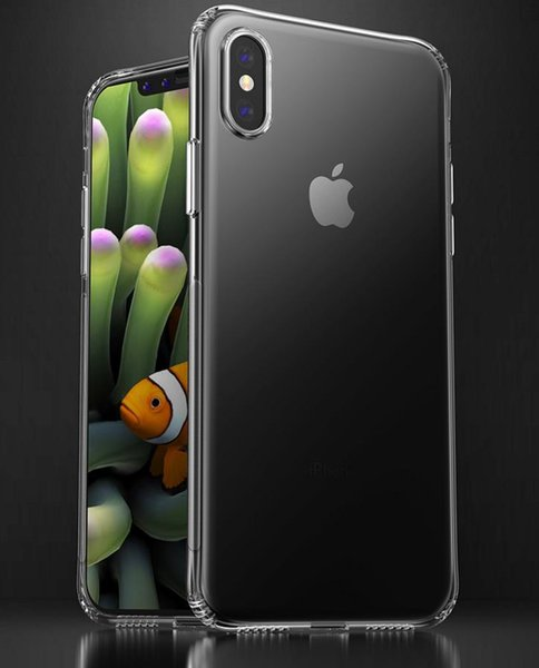 For iPhone 8X iPhone8 PLUS6sPLUS Crystal Clear Clear Hard Case Four Corner Tamper Tpu Soft Shell Case Rear Cover+ Retail box