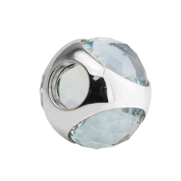 fit pandora bracelet Aqua Blue Radiant Droplet Charms for woman Original 925 silver jewelry making beads Fashion beads