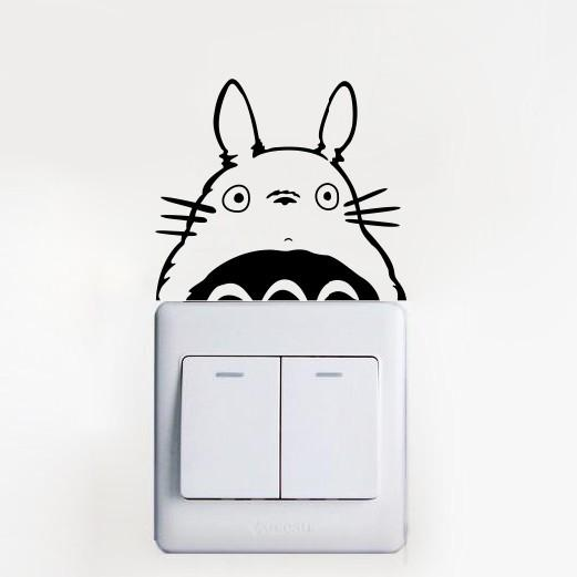 Totoro switch laptop cup family Wall stickers decoration decor home decals fashion waterproof bedroom living sofa