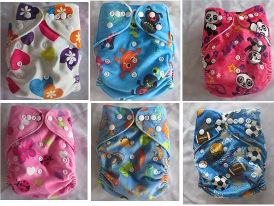 2015 Best Quality Reusable Diaper Suppier Cloth Diapers Minky Nappies Covers 50 pcs with insers
