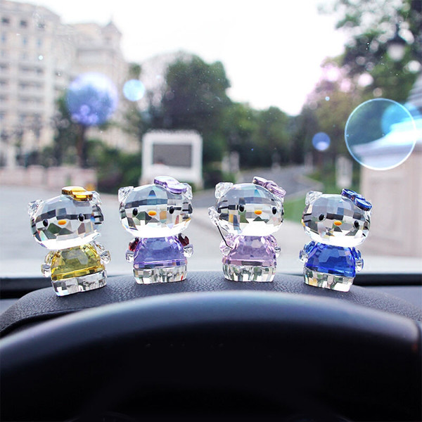 Cristal rose / violet / bleu / jaune / rouge verre verre ornement cristal artisanat figurines en verre cadeau d'anniversaire pour les filles DEC138