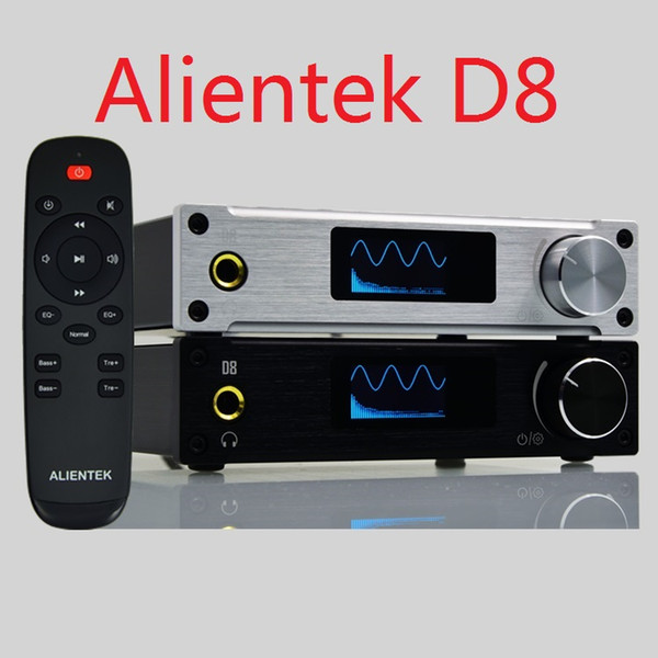 Freeshipping D8 Full Digital Audio Headphone Amplifier USB XMOS/Coaxial/Optics/AUX 80W*2 24Bit/192KHz Remote Control