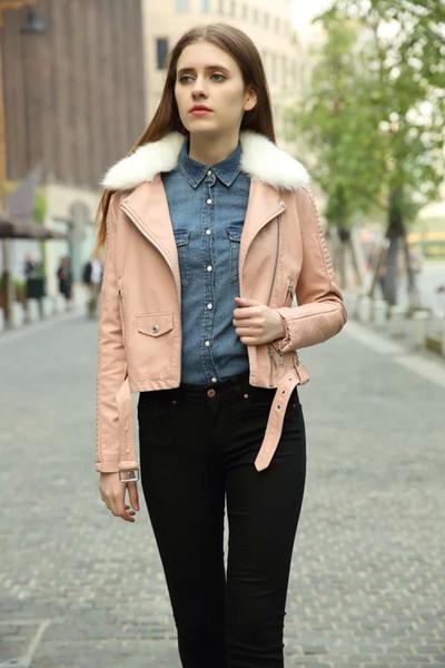 2017 Ladies Women'S Faux Fur Lining Fur Coats Winter Warm Short ...