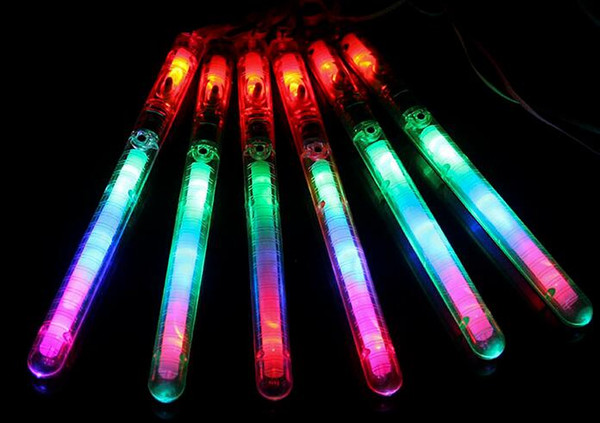 Free EMS DHL 200pcs Christmas party supplies 7-colors changing LED Glow Sticks Flash light up Wand kids toys Led Flash Glow Sticks Xmas Gift